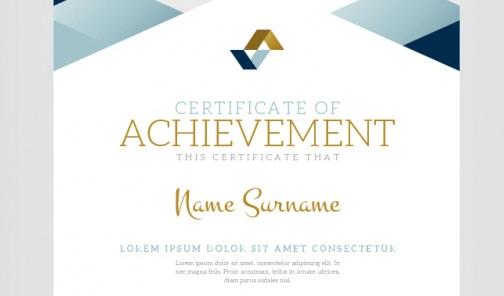 Geometric certificate of achievement