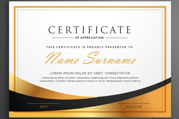 certificate template psd photoshop free download