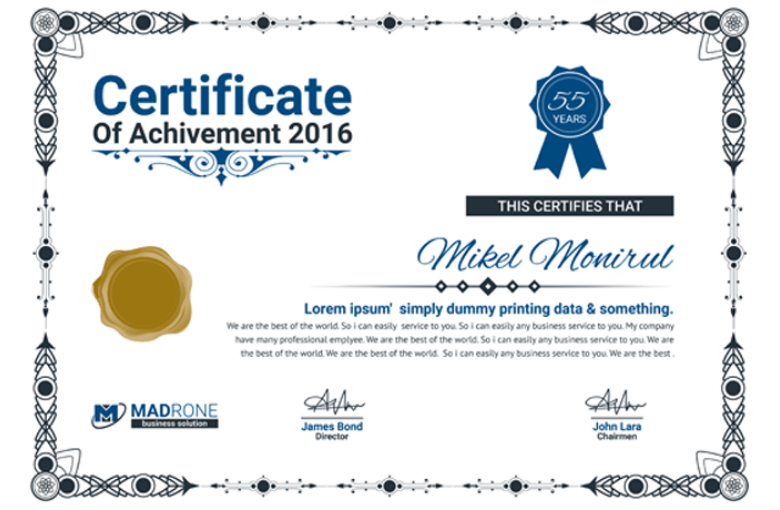 50 Multipurpose Certificate Templates And Award Designs For Business And Personal Use