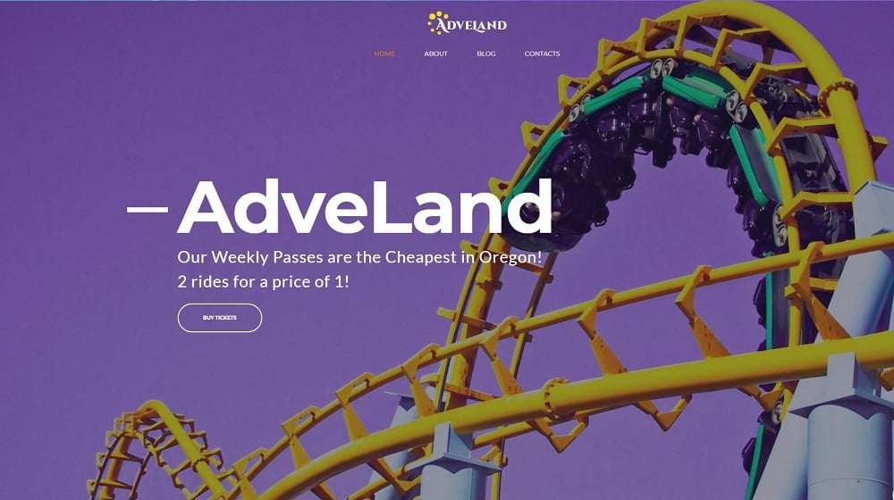 Adveland Amusement Park WordPress Theme