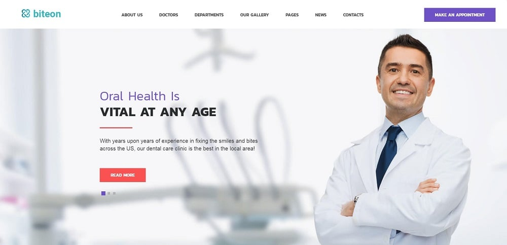 Biteon - Dentistry Clinic Responsive WordPress Theme