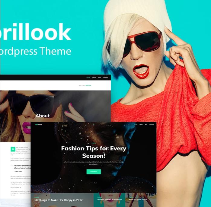 BrillookLite - Fashion Blog Free WordPress Theme WordPress Theme