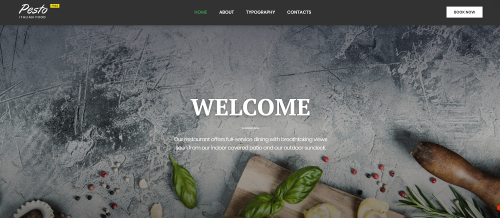 Cafe _ Restaurant Free Website Templates
