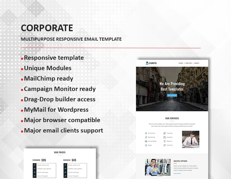 Corporate - Multipurpose Responsive Newsletter Template