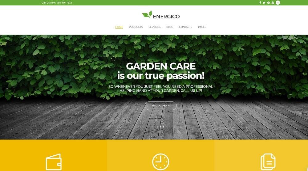Energico - Agriculture & Garden Care Responsive WordPress Theme WordPress