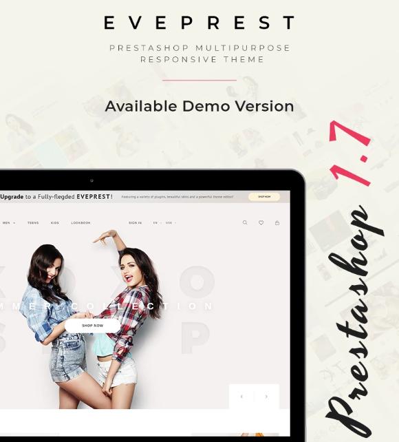 Eveprest- Free Clean BootstrapEcommercePrestaShopTheme