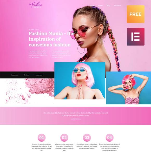 Fashion Mania - Easy WordPress Theme
