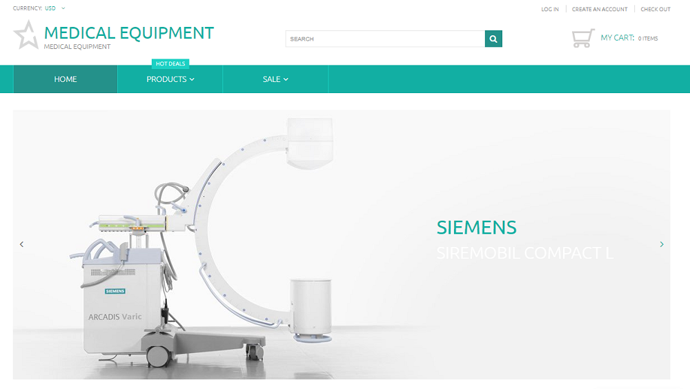 Medical Equipment - Medical Equipment Multipage Clean Shopify Theme