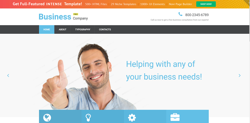 Free Business Responsive Website Template