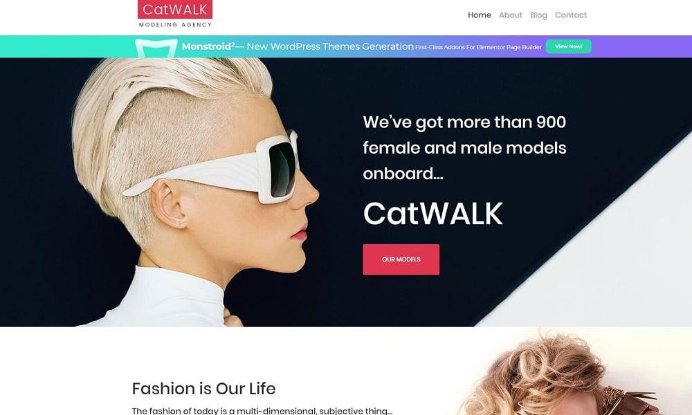 Catwalk - Fashion Modeling Agency Responsive WordPress Theme WordPress Theme