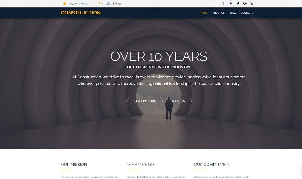 Construction Company Free Modern Joomla Template