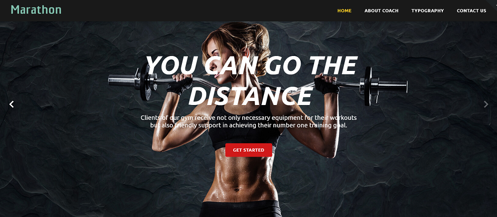 Free HTML5 Theme for Sport Site Website Template