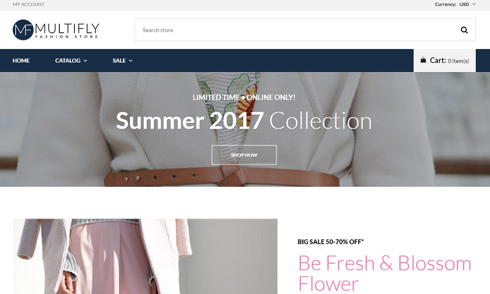 Multifly - Fashion Store Free Elegant Shopify Theme