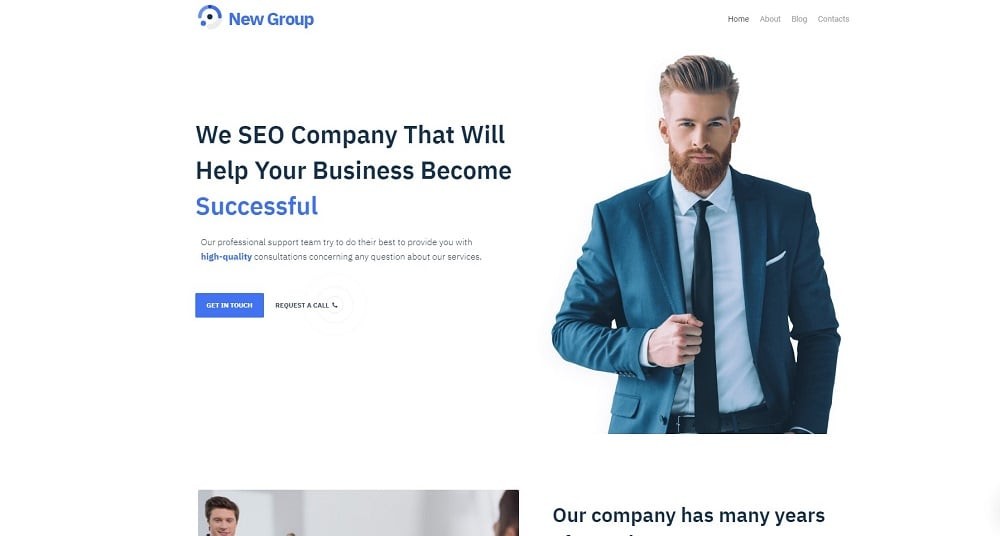 Free WordPress Theme for Consulting Firm WordPress Theme