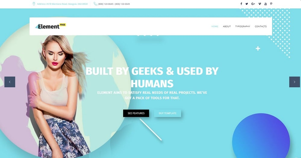 Free Responsive Design Agency Template Website Template