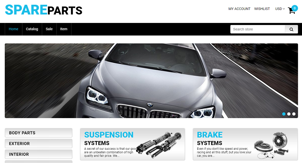 Spare Parts - Car Parts Free Clean Shopify Theme
