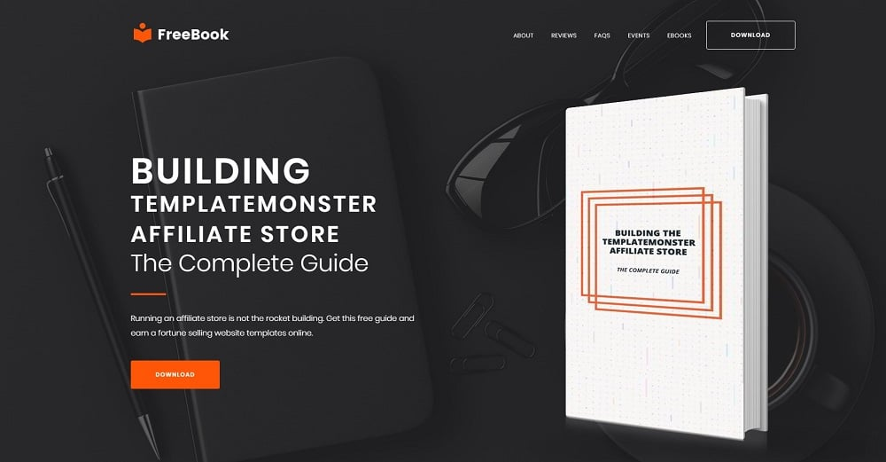 FreeBook - Free One-Page WordPress Theme