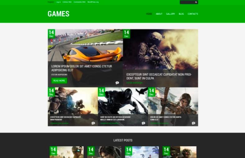 Game Portal Responsive WordPress Theme
