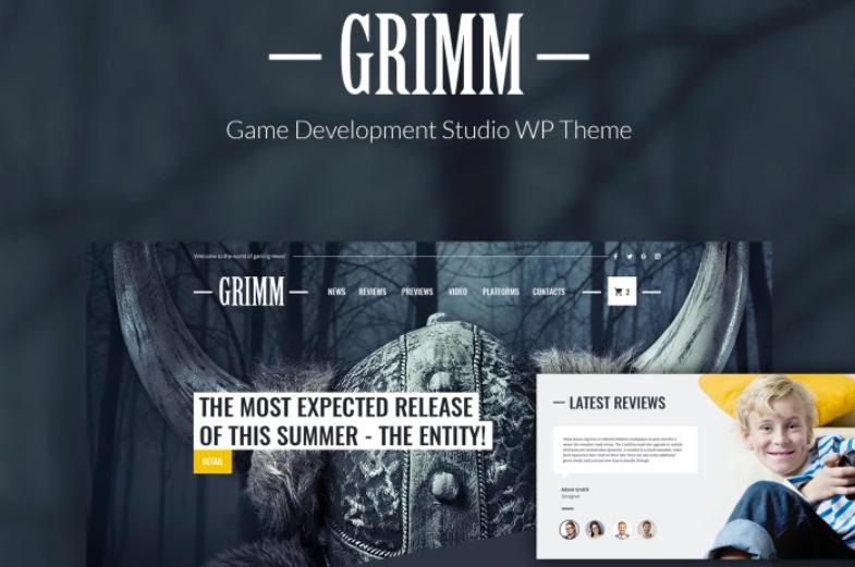 GRIMM - Game Development Studio WordPress Theme