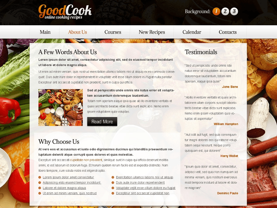 Free Recipes Website HTML5 Template