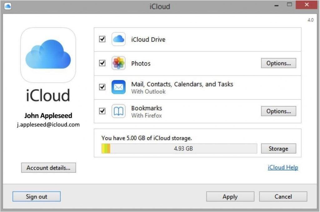 iCloud mail