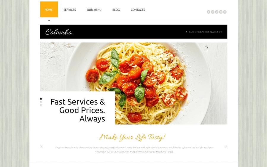 European Restaurant Free Joomla Template