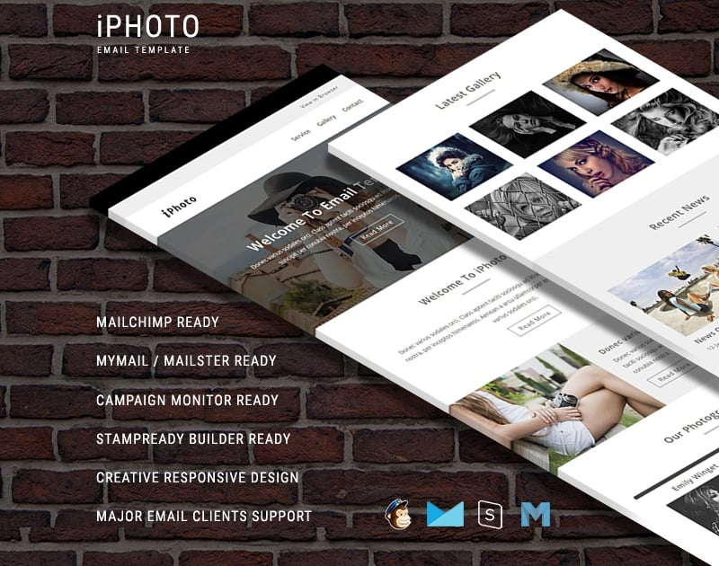 iPhoto - Responsive Newsletter Email Template