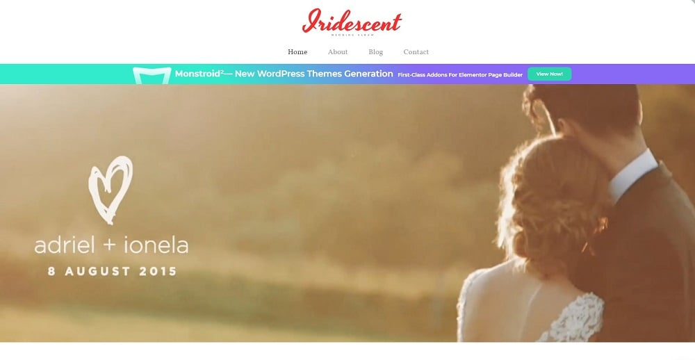 Iridescent - Wedding Album Free WordPress Theme