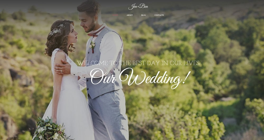 Jen + Ben - Wedding Planner Elementor WordPress Theme