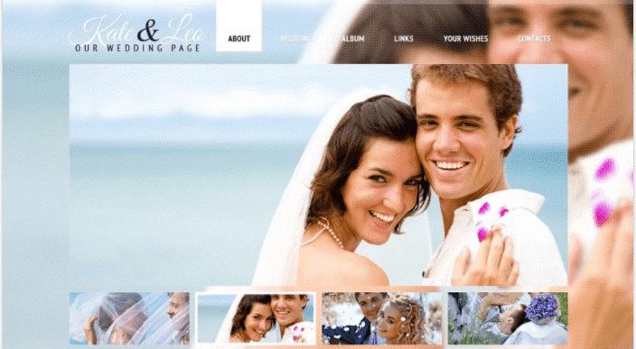 Kate & Leo - free Wedding Template