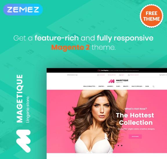 MagetiqueLingerie - FREEeCommerceMagento2 ThemeMagentoTheme