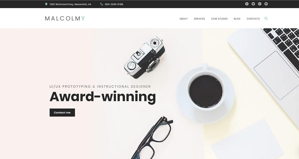 MalcolmY - Freelance Designer Personal Portfolio Lite Free