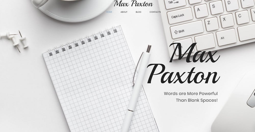 Max Paxton Lite - Copywriter Personal Website Free WordPress Theme