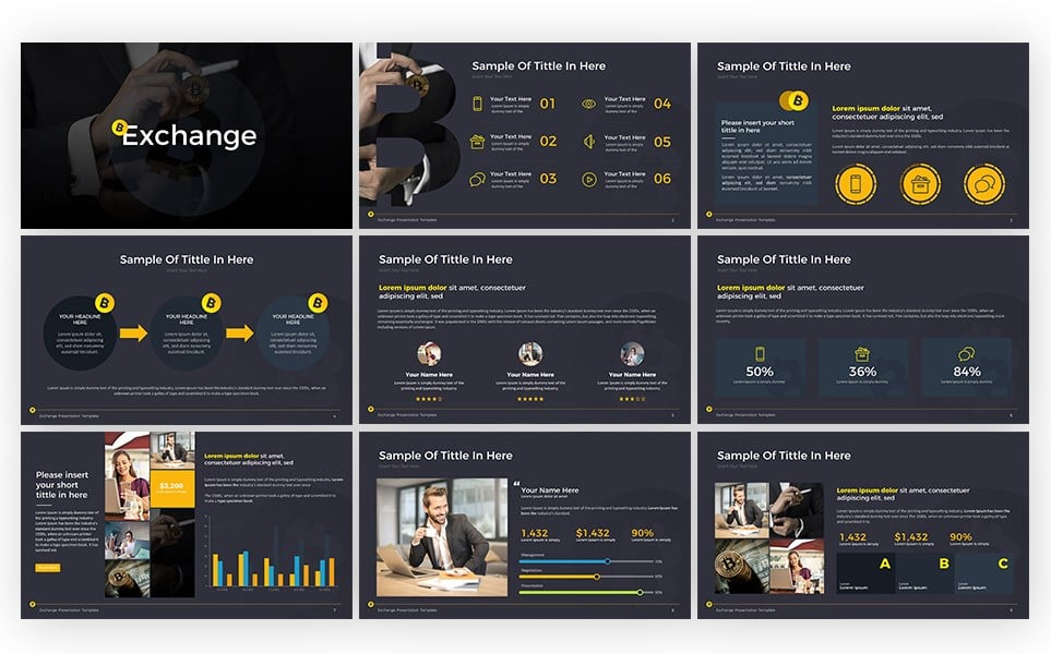 Cryptocurrency - Exchange Presentation PowerPoint Template