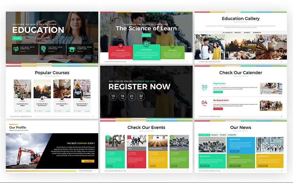 Education - Presentation PowerPoint Template
