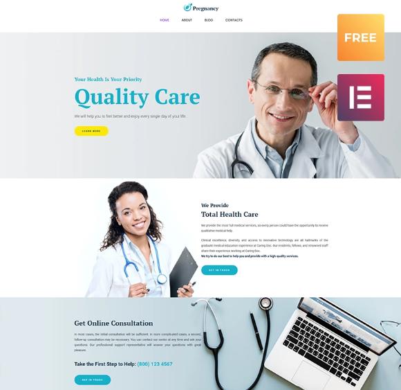 Pregnancy - Free WordPress Template