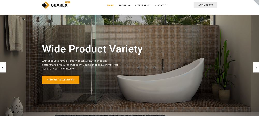 Free HTML5 Theme for Interior Site Website Template