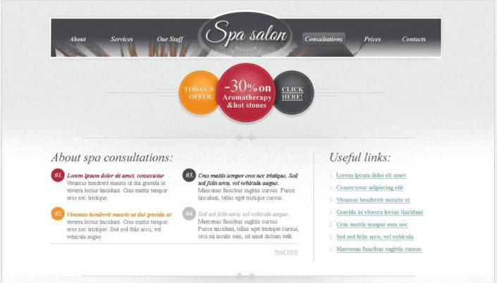 Free HTML Theme for Spa Salon Website