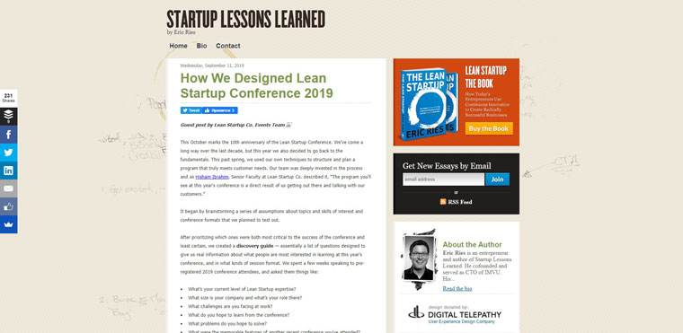 Startup Lessons Learned.