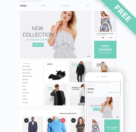 SuitUP- Fashion Store Free ElegantShopifyTheme