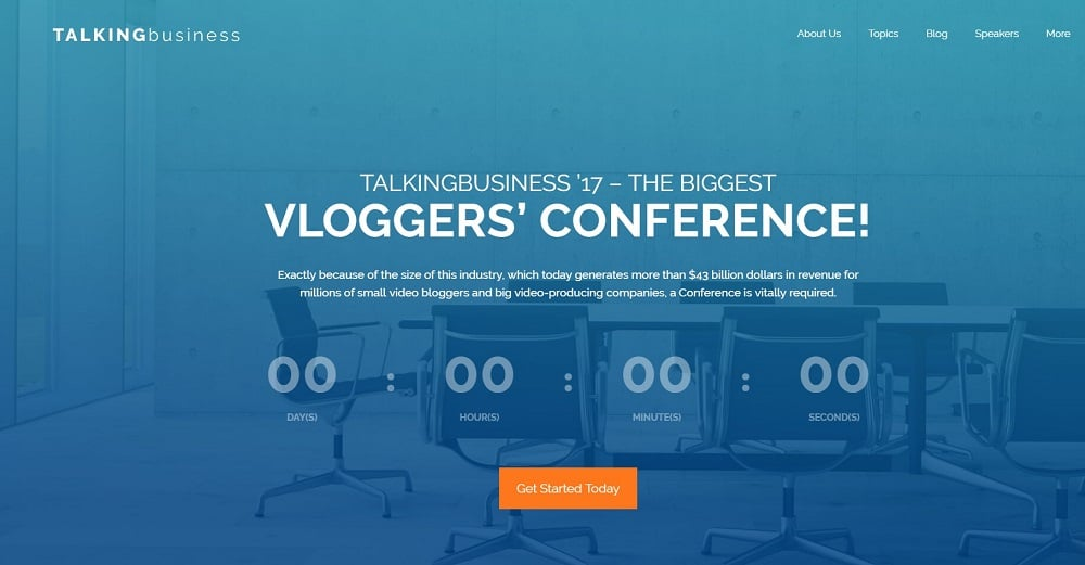 Talking Business - Conference Free WordPress Theme
