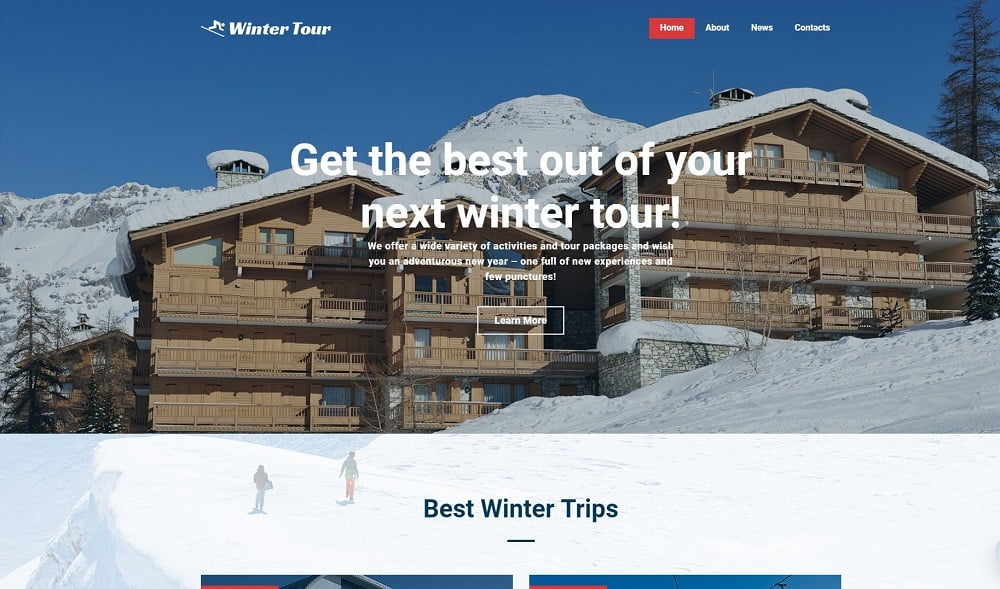 Winter Tour - Travel Agency Free Creative Joomla Template