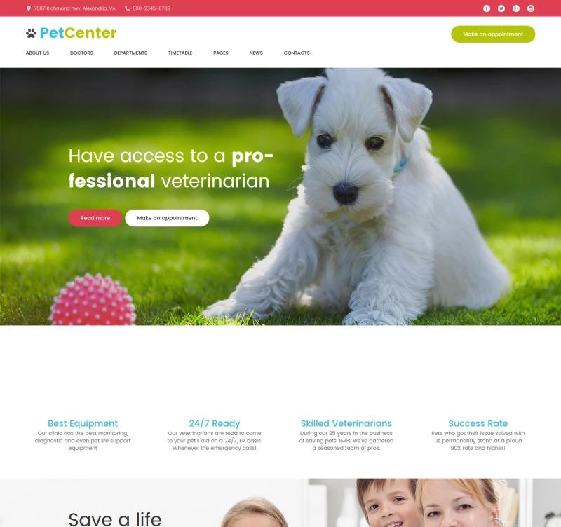 PetCenter — Animals & Pets Responsive WordPress Theme