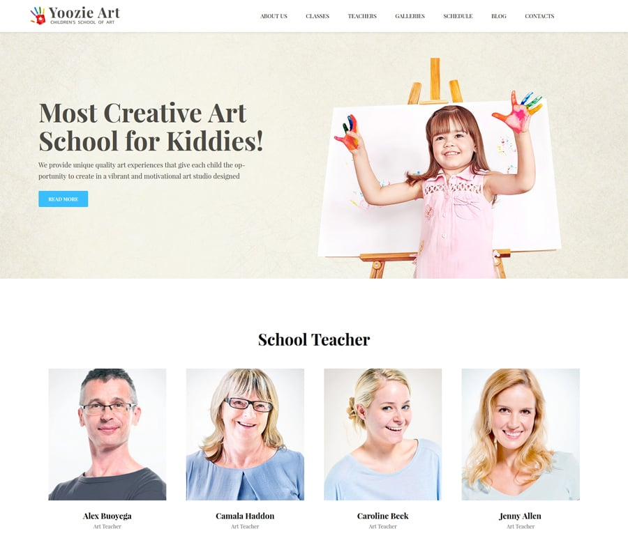 children wordpress themes