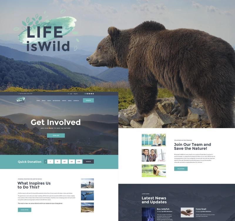 LifeisWild — Wild Life WordPress Theme