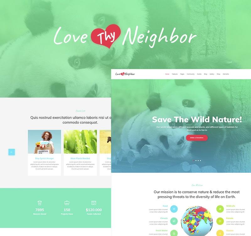 Love Thy Neighbor WordPress Theme