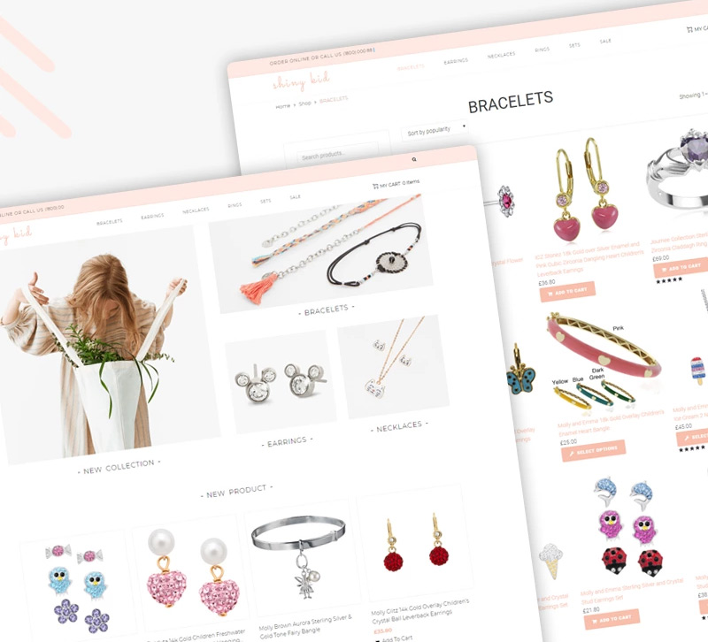 Shiny Kid - Children Jewelry Elementor WooCommerce Theme