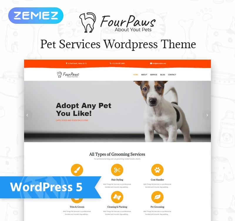 Four Paws — Pet Services Multipurpose Classic Elementor WordPress Theme