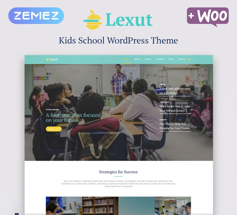 Lexut - Education ECommerce Modern Elementor WordPress Theme