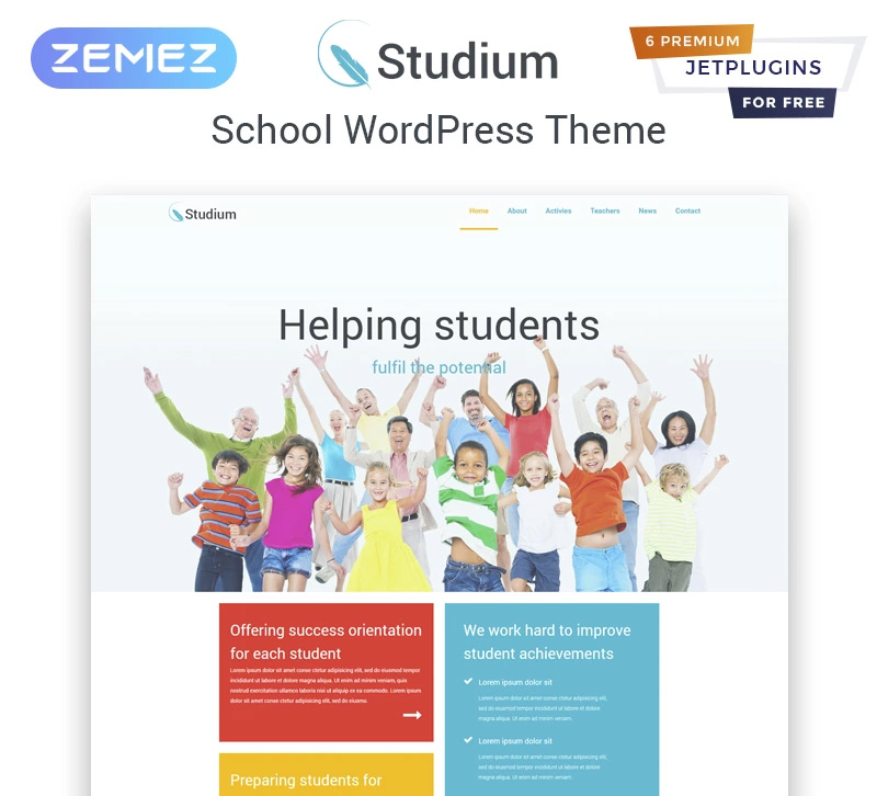 Studium - Education Multipurpose Modern Elementor WordPress Theme